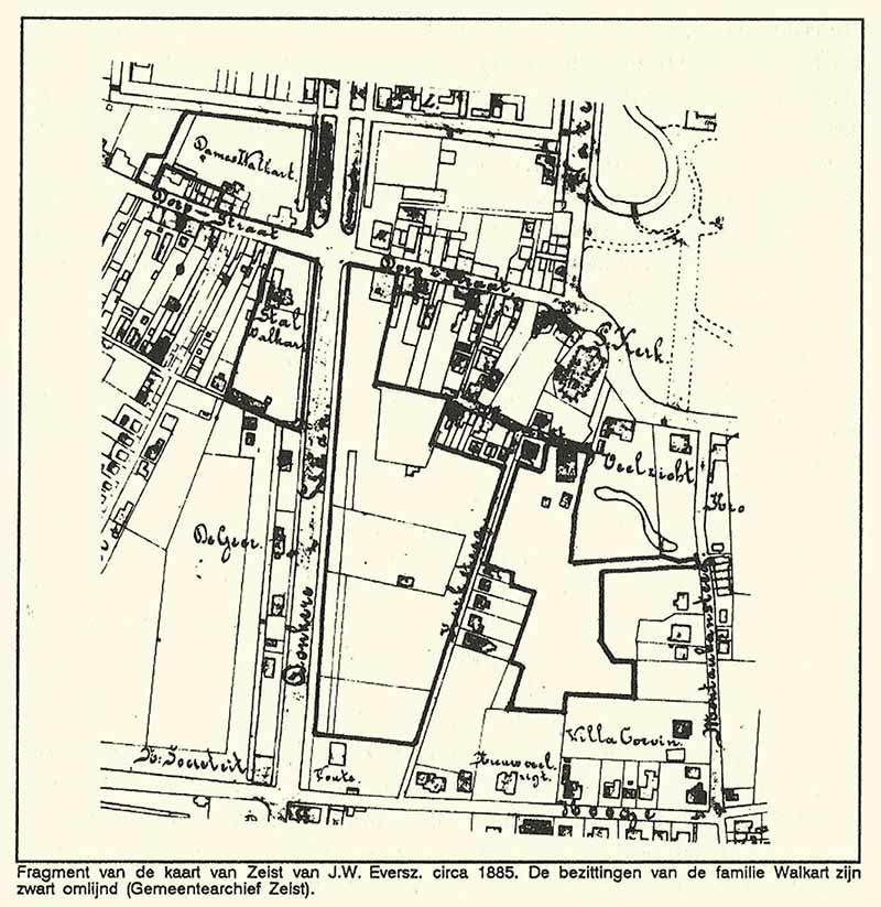 Kaart J.W. Eversz. 1885