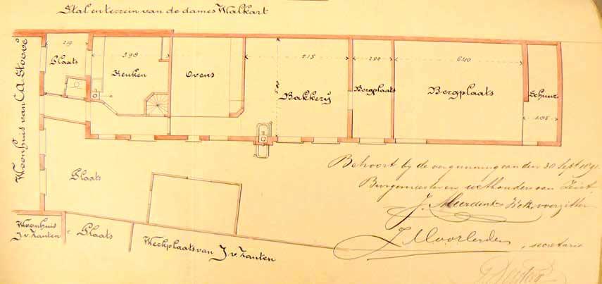 Herbouwplan voor de bakkerij van C.A. Stoové, d.d. 30 september 1891