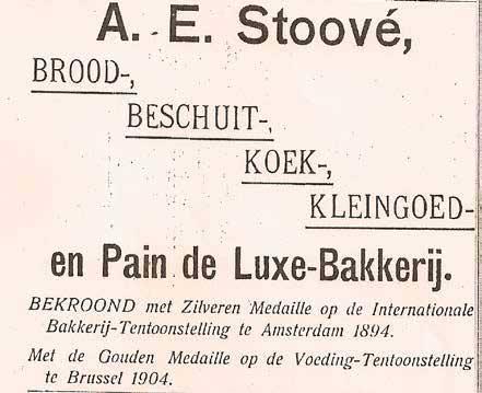 Advertentie van bakkerij C.A. Stoové in de Gids voor Zeist, C. Avis (na 1894)