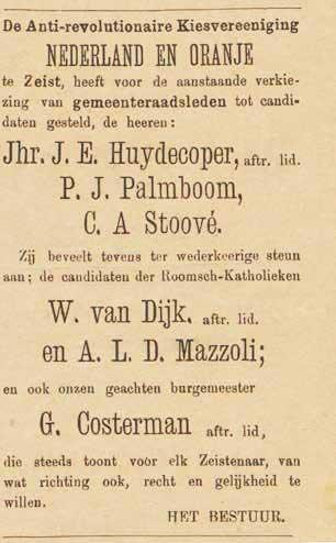 Verkiezingsbericht in de Weekbode van 18 juli 1891