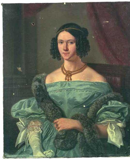 Catherine Elise Wichardine de Fockert. Portret door J.L. Jonxis, ca. 1840