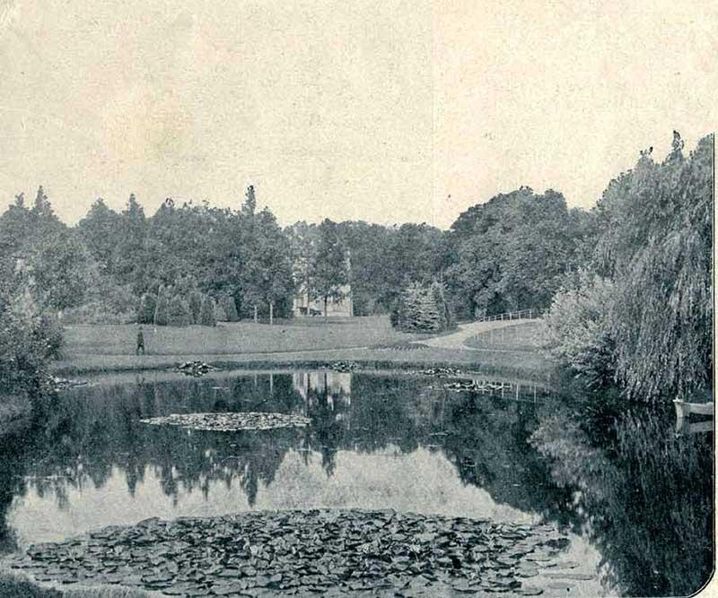 Het park van Villa Nuova in 1906