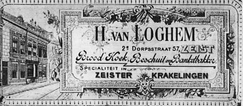 Advertentie Bakker Van Loghem Zeist