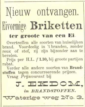 Advertentie Briketten Ekdom