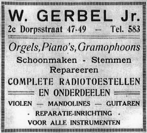 Advertentie-Gerbel-adresboek-Zeist