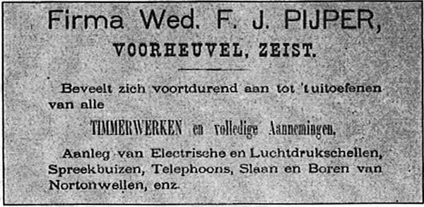Advertentie Gids Zeist 1894