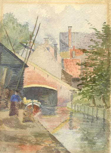 Aquarel, Norma Labouchère, circa 1898