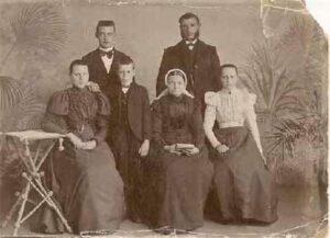De familie Struve ca. 1900