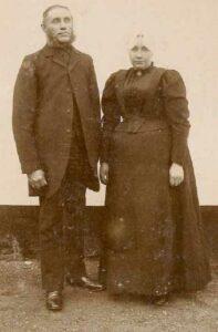 Hendrik Dirk Schuurman en zijn echtgenote Geertrui Anna de Greef, ca. 1890.
