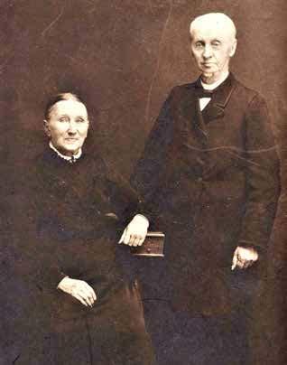 Portretfoto Jacob van Zanten en Johanna Maria van Zanten-Evers