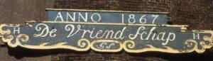 Molenbaard van molen 'De Vriendschap'.