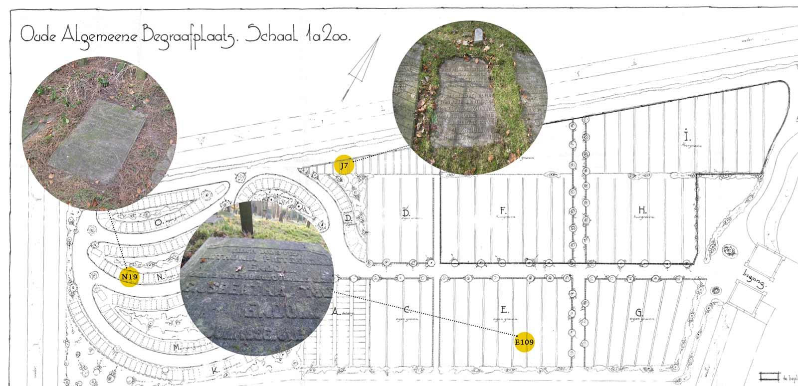 Plattegrond begraafplaats, Graven familie Ekdom