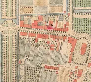 Uitsnede van het Plan van Zeist van C. Forsell uit 1802