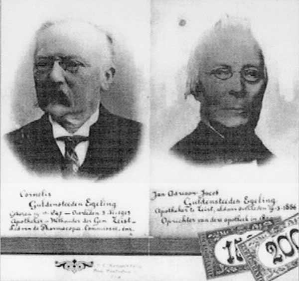 Zoon Cornelis en vader Egeling, Zeist